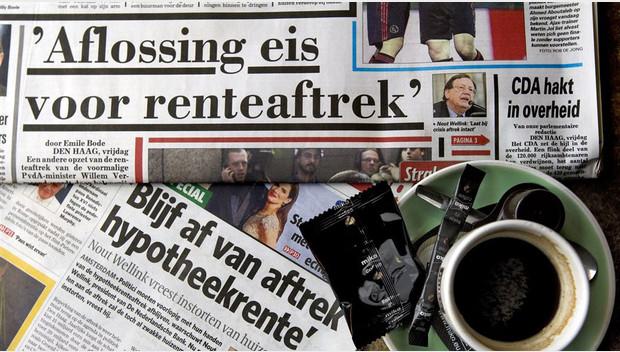 kranten hypotheekrente afrek