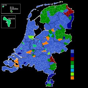 uitslagen verkiezingen per gemeente
